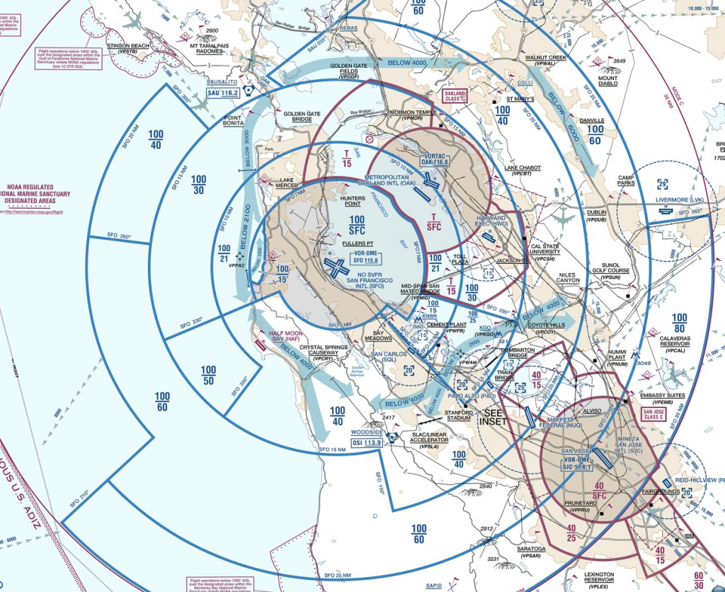 KSFO VFR Flyway Planning Chart